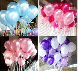 Wholesale Decorated Balloons - cheap 100pcs 10'' 1.2g Round Shape Latex Pearl Balloons Party Decorate Valentine's Day Happy Birthday Wedding Decoration Balloon