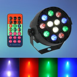 Wholesale club lights for sale - Hot Sale 8CH DMX-512 12 LED Stage Light Par 12W RGB Lighting With Remote Contrller for Laser Projector Party Club DJ House Disco