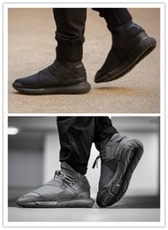 Wholesale High Quality Best Sneakers - Free Shipping Sale Qasa High Vista Grey Triple Black Y3 Running Casual Shoes Best Quality Version Wholesale Size US 5.5 11 Sneakers