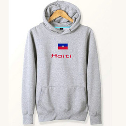 Wholesale Coolmax Cotton - Haiti flag hoodies Nation Hayti cotton sweat shirts Country fleece clothing Pullover sweatshirts Outdoor sport coat Brushed jackets