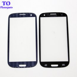 Wholesale S4 Replacement Glass - 50pcs Front Outer Cover Glass Lens Replacement Screen For Samsung Galaxy s3 s4 s5 s6 s7 Free shipping