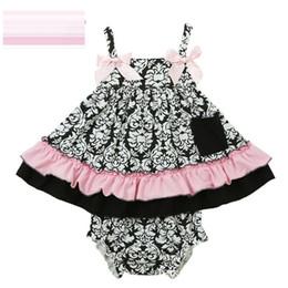 Wholesale Girls Halter Vest - Summer babies outfits Baby girls Halter top+PP pants suspender vest Bow Leopard Print sets kids cotton clothing Free shipping E1039