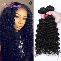 Wholesale Per Hair Bundles - 50% Dyeable Peruvian Malaysian Mongolian Hair Products Brazilian Virgin Hair Deep Wave 3 or 4 Bundles per lot Human Hair Weave No Tangle