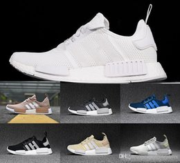 Wholesale Running Tri - NMD Runner R1 boost PK mesh Monochrome Salmon Talc Cream Olive Triple Black Tri-Color Mens Womens Running Shoes NMD Sneakers US 5-11