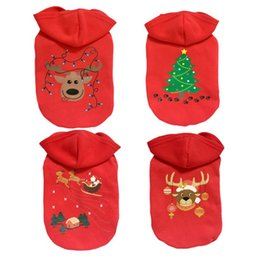 Wholesale Christmas Hoodie For Dog - Cute Animal Pattern Autumn Winter Cotton Small Medium Dog Christmas Coat Santa Claus Hoodie for Pets