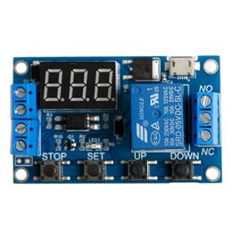 2019 relè di potenza in miniatura 6-30V Relay Module Switch Trigger Time Delay Timer del circuito Ciclo regolabile