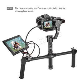 Wholesale Grip Stabilizer - Wholesale- Zhiyun Dual Handheld Grip for Zhiyun Crane Crane-M 3-Axis Handheld Gimbal Stabilizer + Magic Arm Mount Adapter and Pliers Clip