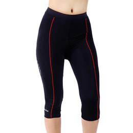Wholesale 3xl Gel Pad Cycling Shorts - Tasdan Sportswear Women Cycling Clothing Custom Cycling Wear Cycling Tights 3 4 Pants Bicycle Gel 3D Coolmax Padded Bike Short Pants