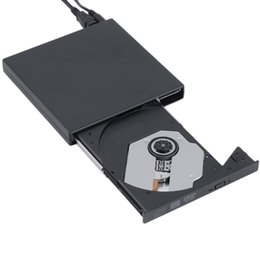 Wholesale Dvd Writer External - New black USB 2.0 External CD+-RW DVD+-RW DVD-RAM Burner Drive Writer For Laptop PC Wholesale