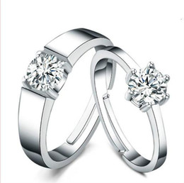 Wholesale Hearts Rings - Classic wedding ring single diamond lovers ring the crystal express ring custom for Men and Women with box