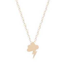 Wholesale Storm Necklace - 10pcs lot Small Storm Little Cloud Lightning Necklaces & Pendants Women Friends Forever Necklaces Collier Femme