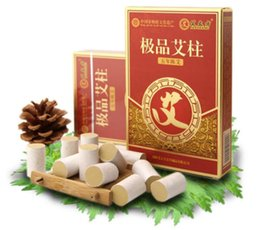 Wholesale Moxa Rolls - Five Years Mini Moxa Stick Roll Moxibustion Mugwort 54pcs Set 18mm*27mm