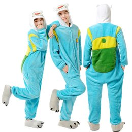 Wholesale Adventure Time Costume Adult - Designer Anime Adventure Time With Finn And Jake Cosplay Cosplay Pajamas Adult Female Male Onesie Sleepwear Pyjamas
