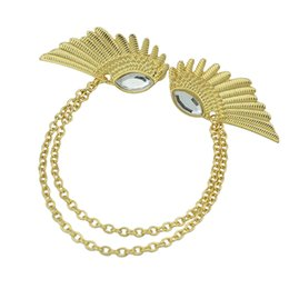 Wholesale Wings Collar Clip - Fashion Gold Color Wing Shape Clips Collar Necklace