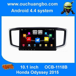 Wholesale Multimedia Car Honda - Ouchuangbo car dvd gps radio stereo multimedia for Honda Odyssey 2015 big screen with BT 4 core canbus android 4.4 HD 1024*600