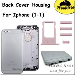 Wholesale Metal For Doors Wholesale - For iPhone 5 5S 6 6S Plus Apple Housing Back Cover Battery Door Replacement Metal With Card Tray Volume Control Key Power Button Mute