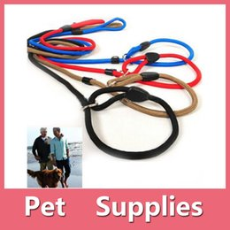 Wholesale Coated Rope - Classic Pet Dog Puppy Nylon Rope Training Leash Lead Strap Adjustable Traction Collar With 3 Colors