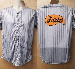 Wholesale Pinstripe Shirts - Furies Jersey Baseball Uniform Cobb Halloween Costume Shirt Movie Player Gang Pinstripe 70s Gift Idea