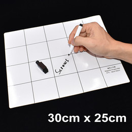 Wholesale Eraser Pen - 30cm x 25cm White Magnetic Project Mat Screw Pad Screws Working Pad with Marker Pen Eraser for Cell Phone Laptop Tablet DIY Repair 20set