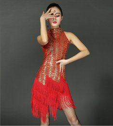 Wholesale Flapper Style - Sequin Paisley Great Gatsby Flapper Dance Girl Tassel Glam Party Dress Costume Pattern Style Fashion Clothing