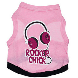 Wholesale Dogs Clothes Shoes - New Rocker Chick Dog Apparel Fashion Cute Dog Vest Pet sweater Puppy Shirt Soft Coat Jacket Summer Dog Cat Clothes