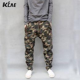 Wholesale Mens Camo Jeans - Wholesale-Camouflage Jeans Mens 2016 New Fashion Camo Harem Jeans Drop Crotch Free Shipping Size S,M,L,XL,2XL,3XL,4XL,5XL,6XL,7XL