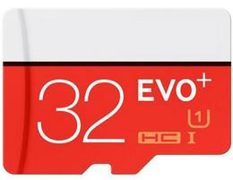Wholesale Evo Speed - Class 10 EVO Plus 64GB 32GB 128GB Micr SD Card MicroSD TF Memory Card C10 Flash SDHC SD Adapter SDXC White Blue Retail Package 1pcs moq