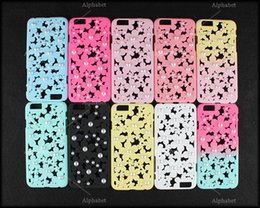 Wholesale Iphone Cases For Girls 3d - Elegand Girls Woman Style Pearl Case Engraving Flower 3D Flowers Design Slim Back Cover for iPhone 5 5s iPhone 6 plus 6plus