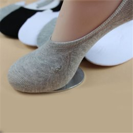 Wholesale Wholesale Invisible Ankle Socks Women - Wholesale-Unisex 1 Pair Men Women Low Cut Ankle Socks Casual Soft Cotton sock Loafer Boat Non-Slip Invisible No Show Socks 3 Colors