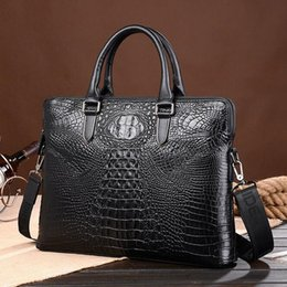 Wholesale Brand Selection - Factory direct male package new fashion brand leather crocodile crocodile leather briefcase mens finest selection of men's business.