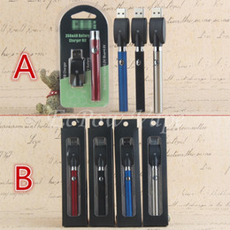 Wholesale Ecigarette Vv Battery - Top Quality LO Battery Ecig Pre-heating VV E Cig Vape Starter Kit CO2 Oil Cartridge Vaporizer Ecigarette Black Box OR Semicircle Blister