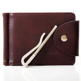Wholesale Note Jeans - Wholesale-Mens Genuine Leather Wallet Thin Mini Pocket Jeans Men Wallets Brand Designer Money Clip Male Money Purse Carteira Masculina