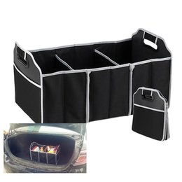 Wholesale Trunk Organiser - 2016 new Car Organizer Boot Stuff Food Storage Bags trunk organiser Automobile Stowing Tidying Interior Accessories Folding Collapsible