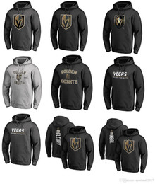 Wholesale Kids Fleece Hoodies - 2017 NHL Vegas Golden Knights 29 Marc-Andre Name & Number Midnight Mascot Pullover Hoodie for man women kid