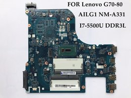 Wholesale I7 Processor For Laptop - AILG1 NM-A331 for Lenovo Ideapad G70-80 Laptop Motherboard SR23W I7-5500U Processor DDR3L 100% Fully Tested