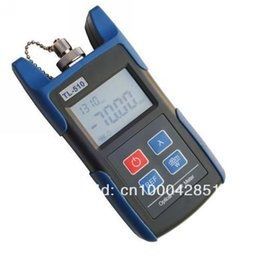 Wholesale Portable Power Meter - Portable Optical Power Meter With FC SC ST Connector -70~+10dBm Fiber Meter Telecommunications Unicom Mobile Tools TL510A Free Shipping