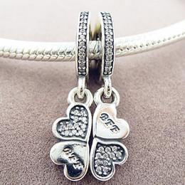 2016 herbst diy lose perle s925 sterling silber beste freunde für immer charme mit cz passt europäischen schmuck armbänder halsketten anhänger von Fabrikanten