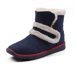 Wholesale Ladies Leather Boots Wholesale - Wholesale- Size 35-40 Women Fashion Super Warm Snow Boots Autumn Winter Womens Ladies Outdoor Flat Heel Mid-Calf Anti-Slip Soft Boot Shoes