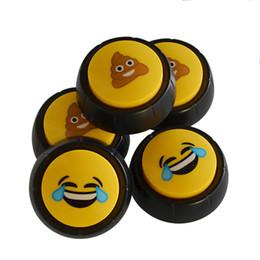 2019 divertente giocattolo di merda Sound Button Funny Shit Emoji Pattern Fart Sounds Design creativo Fashion Estrusione Sounding Box Kid Toy 9sd F R divertente giocattolo di merda economici