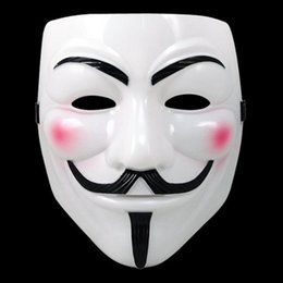 Wholesale Party Costume Mask Paper - V for VENDETTA Halloween Cosplay Mask Costume Guy Fawkes Anonymous Mask Super Scary Party Mask For Women And Men