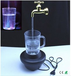 Wholesale Lighted Faucets - Wholesale- Magic Tap running lights holiday gift Colorful magic tap running lights water column lamp;magic faucet fountain;led lamp