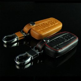Wholesale Bmw E36 Carbon - New Leather Car Styling Key Cover With Buckle For BMW 3 5 6 7 series GT 520LI x3 x5 E36 E39 E46