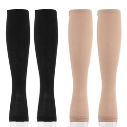 Wholesale Thigh Supports Wholesale - Wholesale-Miracle Socks Antifatigue Compression Stockings Soothe Tired Achy Unisex Knee Socks Pantyhose Supports Toe Thigh Leg Stocking