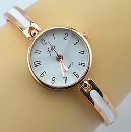Wholesale Cheap Stainless Gold Watch - high quality authentic brand 1pc factory price cheap price good quality nice good looking slim bangle rose gold dress watch-for-girl gift