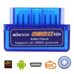 Wholesale Lexus Auto Parts - Mini V2.1 ELM327 OBD2 Bluetooth Interface Auto Car Scanner Diagnostic-Tool OBDII OBD 2 for Android Car Diagnostic Parts