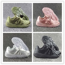 Wholesale Bow Cut Out - 2017 Hot Sale Women Fenty Bandana Slide Sports Shoes Girl Suede Basket Running Shoes Rihanna Fenty Bow Sneakers Size Eur 36-40