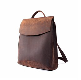 Wholesale Leather Backpack Vintage Genuine - High fashion men and women shoulder bags cowhide vintage knapsack handmade top layer leather bags for travel CH700021