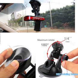 Wholesale black navigation - Car recorder Tachograph mount GPS navigation DVR Holders DV mini stents cameras, surveillance bracket with suction cup base