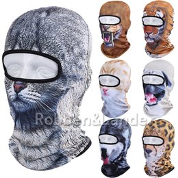 Wholesale Cycling Skull Ski Mask - Wholesale-2016 New 3D Animal Balaclava Outdoor Bicycle Bike Cycling Motorcycle Ski Neck Hats Snowboard Party Halloween Full Face Mask