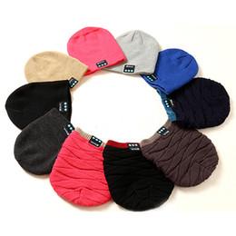 cappelli di chrismas Sconti New Soft Warm Berretti Hat Wireless Bluetooth Smart Caps Cuffie Cuffie Speaker cappello lavorato a maglia regalo Chrismas B0794